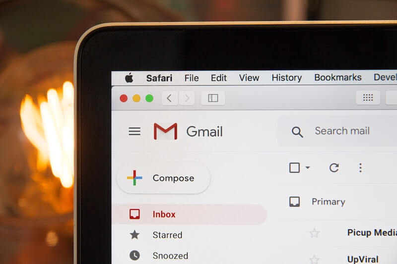 Gmail inbox showing offerings for financing online courses